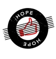 Hope rubber stamp vector image vector image