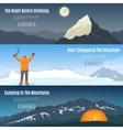 horizontal landscape banners set vector image vector image
