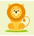 lion sitting and smiling vector image vector image