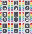 Lock SMS Microphone Battery Headphones Window vector image