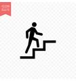 man climbing stairs icon simple flat style vector image