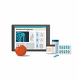 medicine pills treatment scheme on tablet vector image