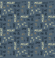 melbourne pattern seamless design vector image