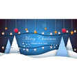 merry christmas happy new year winter landscape vector image vector image