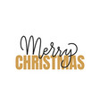 merry christmas inscription winter lettering sign vector image vector image
