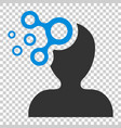mind people icon in flat style human frustration vector image vector image
