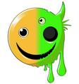 mutant happy icon vector image vector image