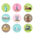 National Sights and Landmarks vector image vector image