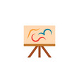 painting easel artist icon logo design element vector image
