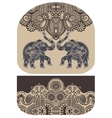 pattern with elephant of purse money design vector image vector image