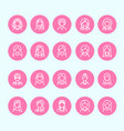 people line icons business woman avatars outline vector image vector image