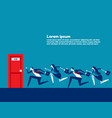people running to job door concept business vector image