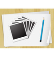 Photo frames and papers vector image