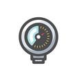 pressure gauge equipment icon cartoon vector image