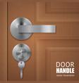 realistic door downlock background vector image