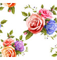 realistic rose bouquet seamless pattern vector image vector image