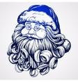 Santa Claus Christmas symbol hand drawn vector image vector image