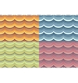 seamless geometrical wavy pattern set vector image vector image