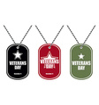 Set army badge Soldier medallions of different vector image