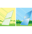 solar panels in color vector image vector image