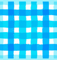 stripe pattern gingham blue brush strokes vector image vector image