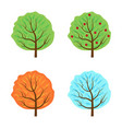 trees set seasons icon flat style isolated on vector image vector image