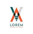 va modern logo design with orange and green color vector image vector image