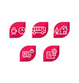 various icons set icons 5 amazing icons for vector image vector image