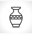 vase symbol icon design vector image