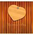 Wooden valentines heart card vector | Price: 1 Credit (USD $1)