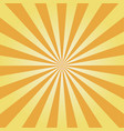 yellow sunburst vector image vector image