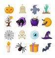 halloween cartoon cute characters vector image