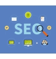 Icons set of website SEO vector image