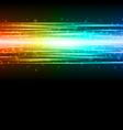 smooth colorful technology light lines vector image