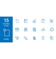 15 page icons vector image vector image