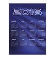 2016 simple business blue waves wall calendar
