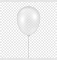 3d realistic transparent balloon icon vector image vector image