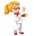 a cook character on white background vector image