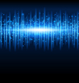 abstract blue waveform vector image vector image