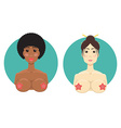 African-American and Asian girl nude Online sex vector image