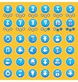 Aqua game buttons set vector image vector image