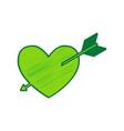 arrow heart sign lemon scribble icon on vector image vector image