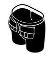 back pocket jeans icon simple style vector image