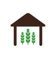 Barn icon Farm vector image vector image