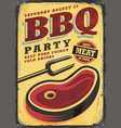Bbq party vintage metal sign