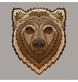 Bear head in mosaic style vector image