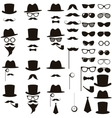 Black retro gentleman icons set vector image vector image