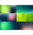 blurred backgrounds set vector image vector image