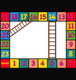 boardgame design with colorful blocks and ladders vector image