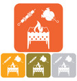 brazier kebab and chicken vector image vector image